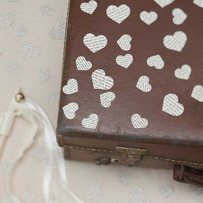 Ginger Ray Vintage Style Heart Confetti, ivory, Paper, wedding, hearts