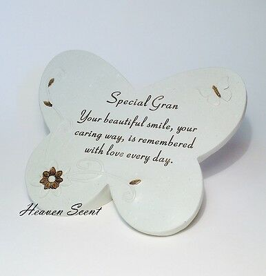 Memorial For Special Gran Butterfly Shaped Grave Ornament Funeral Tribute