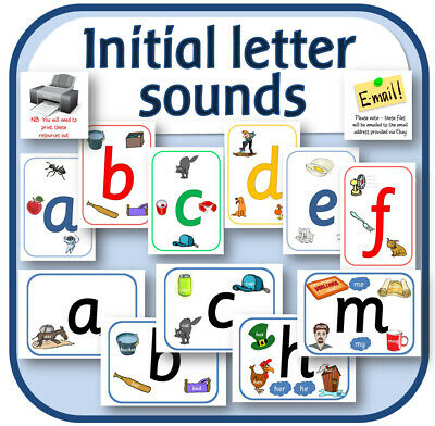 Initial Letters Sounds & Phonics Display Alphabet Teaching Resources Cd Eyfs Ks1