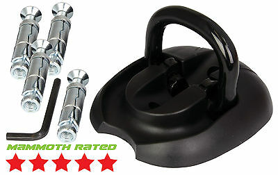 Mammoth Heavy Duty Ground Wall Flip Up Anchor Motorcycle Motocross Bike Security