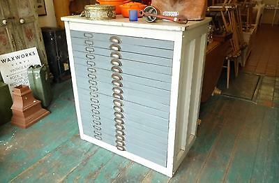 VINTAGE PRINTERS CHEST OF DRAWERS, INDUSTRIAL, COMPOSITORS, DELIVERY ARRANGED