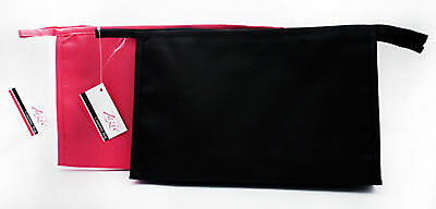 Ladies Large Cosmetic Bag In Black or Pink, Wash Bag, Toiletries,Travel, Make Up