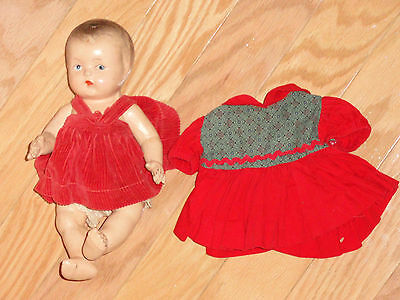 Antique Composition Baby Doll with Clothes including nice dress!