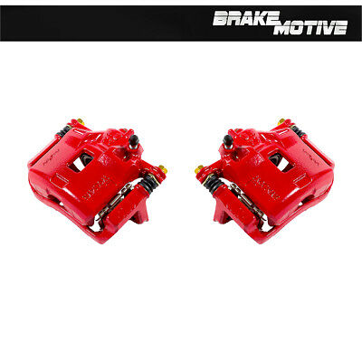 Front Red Brake Calipers Pair ACURA INTEGRA HONDA CIVIC COUPE SEDAN HATCHBACK