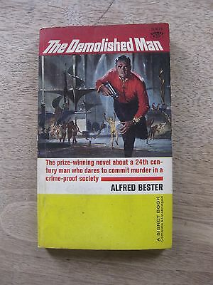 THE DEMOLISHED MAN by Alfred Bester -3rd printing PB 1951 Signet - VG HUGO award
