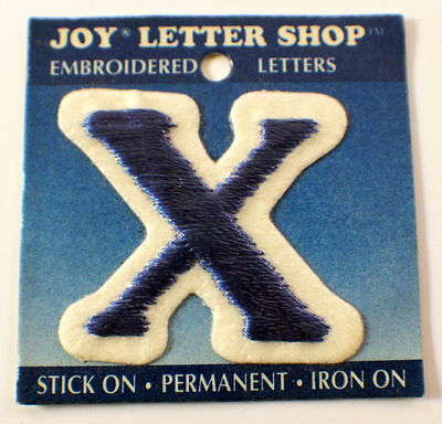 """The Letter X Blue And White 1.25""""  X 1.5"""" Uniform Patch"""