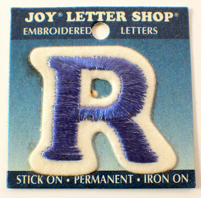 """The Letter R Blue And White 1.25""""  X 1.5"""" Uniform Patch"""