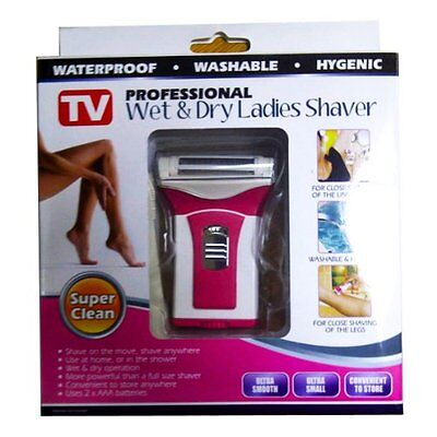 Ladies Professional Wet &  Dry Compact Shaver Battery Operated Razor Cordless