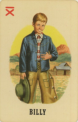 Vintage Single Swap Game Card: 'Billy' (from the Whitman card game: Roundup).