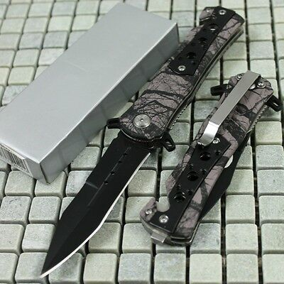 """8"""" Tactical GRAY Camo Assisted Open Rescue Pocket Knife NEW SE-949GYC zix"""