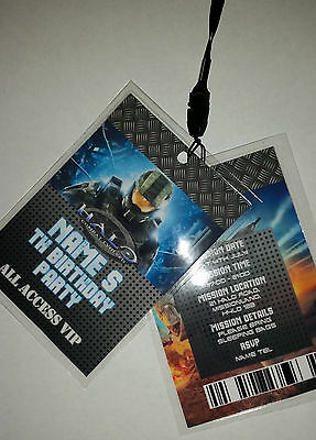Personalised Halo VIP Lanyard for Birthday Party Invites Boys