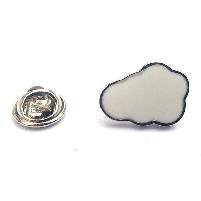 Silver Cloud Lapel Pin Badge Astronomy Weather Sky Clouds Rain Cloudy Gift New