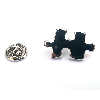 Silver Jigsaw Lapel Pin Badge Puzzle Game Pieces Jigsaws Fit Together Gift New