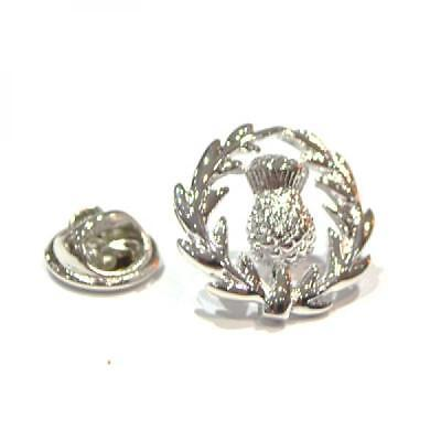 Silver Scottish Thistle Silver Plated Lapel Pin Badge Scot Scotland Badges New