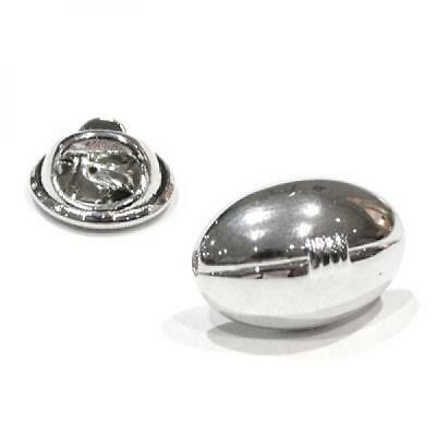 Silver Plated Rugby Ball Lapel Pin Badge Smart Field Sports Player Badges New