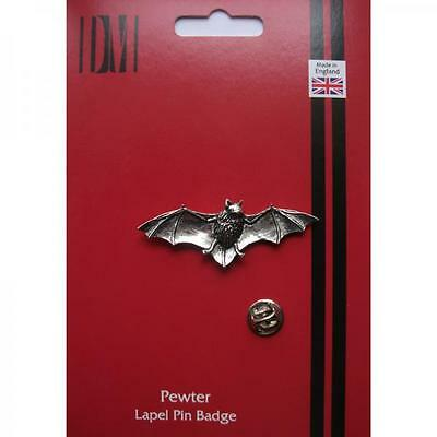 Silver Pipestrelle Bat Pewter Lapel Pin Badge Handmade In England Bats Gift New