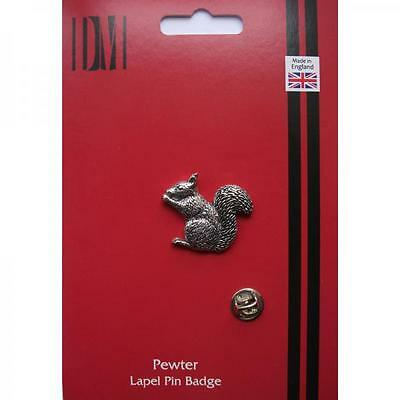 Silver Squirrel Pewter Lapel Pin Badge Handmade In England Squirrels Badges New