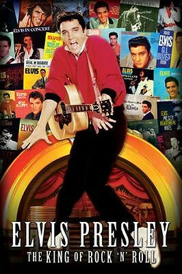 ELVIS PRESLEY - ALBUM COLLAGE POSTER - 24x36 - THE KING MUSIC 241323