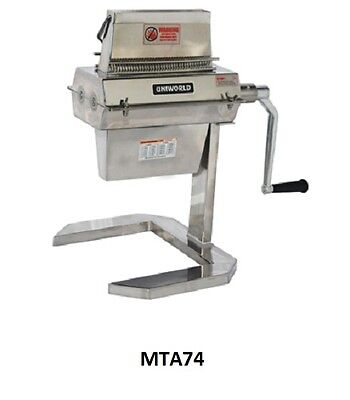 Uniworld Stainless Steel Manual Meat Tenderizer 74 Blades ETL Approved MTA74