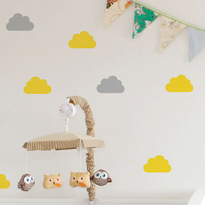 Cloud Silhouette Wall Stickers / Decals - Baby Nursery - Colour Options