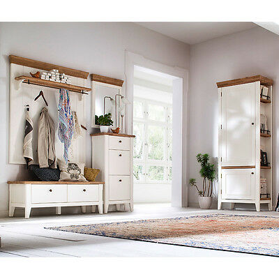 landhaus garderoben set massiv wei flurgarderobe schuhschrank kleiderschrank eur. Black Bedroom Furniture Sets. Home Design Ideas