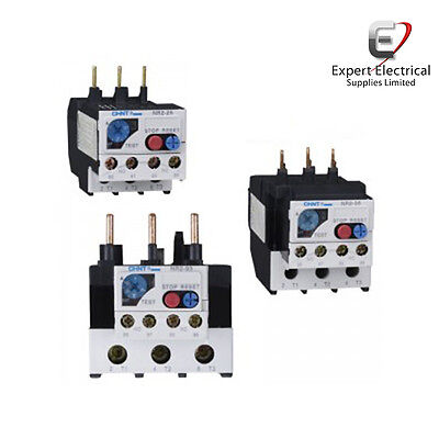 Chint NR2 Thermal Overload Relay For NC1 Contactor Protection 1 x N/O 1 x N/C