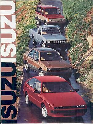 1986 Isuzu Impulse I-Mark Trooper II Pickup Brochure mx2408-BK7218