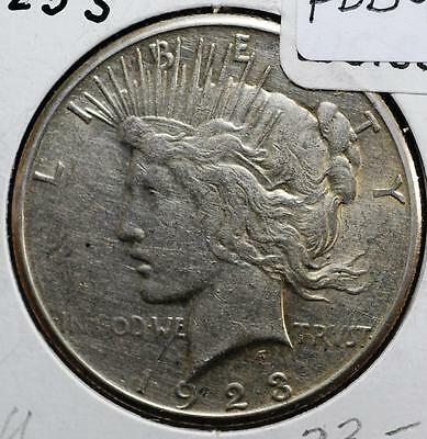 1923-S Silver Peace Dollar Free Shipping PDB9