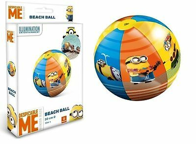 New Despicable Me Minions 50 Cm Official Inflatable Beach Ball Licensed Swimming