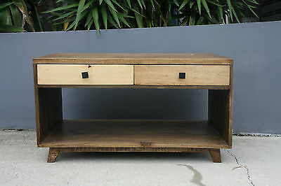 Madrid solid mango wood coffee table. Retro style!! Brand new !!( Limited stock)