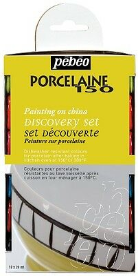 Pebeo Porcelaine 150 Ceramic Paint Discovery Set - 12 x 20ml