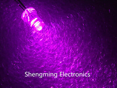 100pcs 3mm Round Pink LED water clear