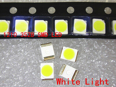 1000pcs 3528 White Ultra Bright Light Diode 1210 SMD LED