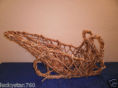 Vintage Large Wicker Christmas Sleigh