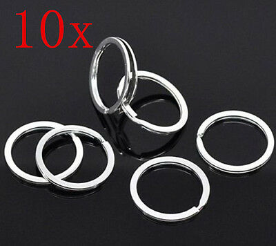 10p/SET Metal Key Holder Split Rings Keyring Keychain Keyfob Accessories 25mm 1""