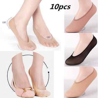 10 Pairs Womens Antiskid Invisible Liner No Show Peds Low Cut Socks As Gift