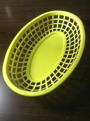 "4 Pieces Fast Food Commercial Basket Baskets 9-3/8"" Oval YELLOW NEW FREE SHIPPI"