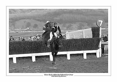 Silver Buck Horse Racing A4 Photo Print Robert Earnshaw Cheltenham Gold Cup 1982