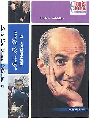 Louis de Funes. Collection 6. Optional English Subtitles.  6 movies. French