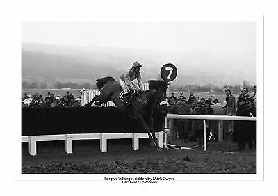 Forgive 'n Forget Horse Racing A4 Photo Mark Dwyer Cheltenham Gold Cup 1985
