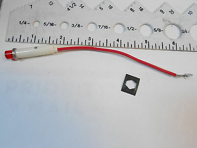 2191L1-6V Industrial Dev. Red Light Ind. Prewired  6Vdc/5W (L)1.5/(D) .25 Nos