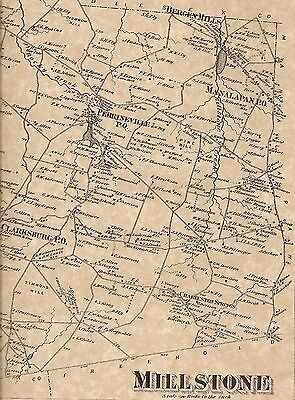 Clarksburg Perrineville Roosevelt NJ 1873 Maps with Homeowners Names Shown