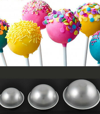 New Aluminum Alloy Ball Sphere Bath Bomb Cake Pan Tin Baking Mold Pastry Mould
