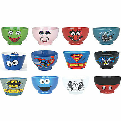Ceramic Cereal Bowl / Dish - New & Official - Disney Batman Muppets Doctor Who