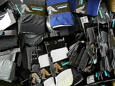 Trouser Socks QUEEN LOT of 50 PAIRS -  25 PACKS Randomly Assorted  Size 8-12 NEW