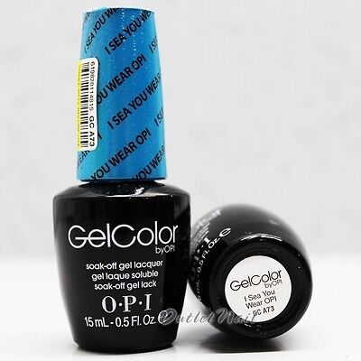 OPI GelColor Brights Collection GC A73 I SEA YOU WEAR OPI 0.5oz/ 15mL Gel Color