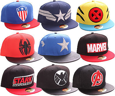 Marvel Comic Caps Logo Cap Superhelden Baseball Hip Hop Kappe Mütze Snapback #2