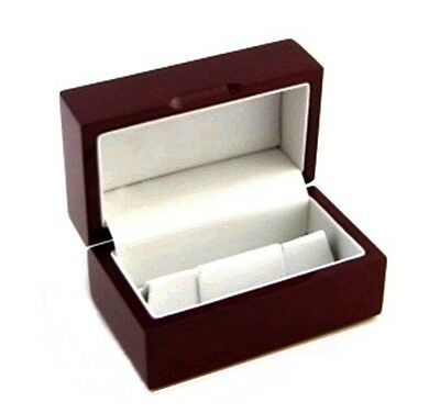 6 Rosewood Mens Cufflinks Jewelry Display Gift Boxes