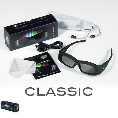 1 Pair Rechargeable 3D Active Shutter Glasses for Panasonic TV TX-55CR850E