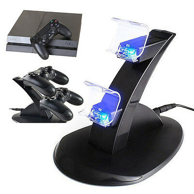 PlayStation Sony PS4 Controller Dual USB LED Charger Dock Station Charging Stand